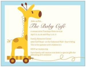 Baby Cafe Invite